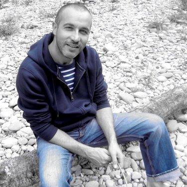 André Baechler - Fin d'été au bord de la Sarine à Hauterive
